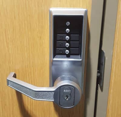 commercial-grade keypad lock