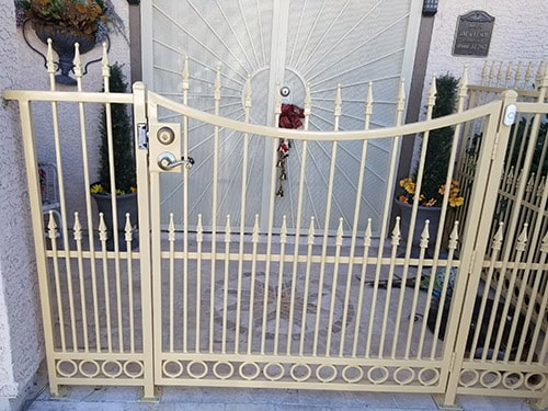 image of a custom residential front gate